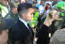 Falcao García hizo presencia en las exequias de su padre