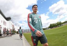 James en duda para la final de la Copa de Alemania