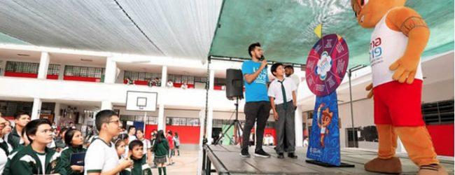 Juegos Panamericanos se dan a conocer en colegios peruanos