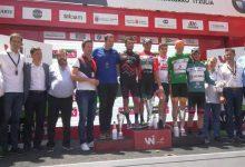 Camilo Castro, podio y campeón de la montaña de la Vuelta a Navarra
