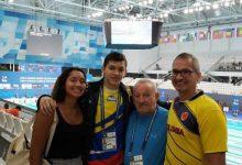 Colombiano décimo en los 50 metros espalda en mundiales de natación