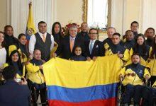 Presidencia entregó la tricolor a deportistas que estarán en los Parapanamericanos