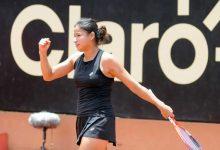Tenista colombiana se destaca en Túnez