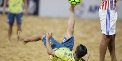 Victoria de la selección sub – 20 en suramericano de fútbol playa