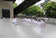 Entrega de cinturones en la Liga de Karate