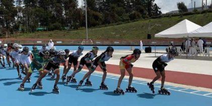 Campeones mundiales juveniles de patinaje, en los Intercolegiados