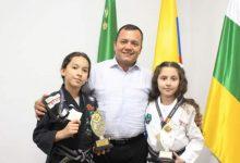 Campeonas laboyanas de jiu jitsu visitaron al Alcalde de Pitalito