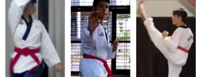 Positivos resultados de taekwondo opita en evento virtual de poomsaes