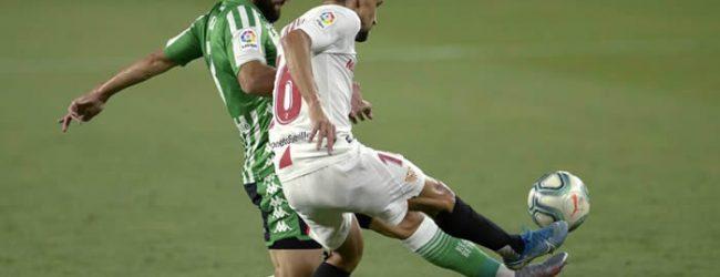 Sevilla ganó el derby andaluz en el reinicio de La Liga