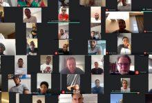 Reunión virtual entre entrenador y jugadores de la Selección