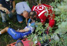 Caída en Lombardía deja por fuera a Evenepoel