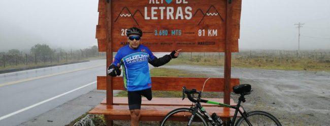 Paratleta opita conquistó el puerto de montaña más largo del mundo