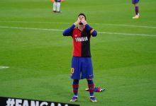 Homenaje de Messi a Maradona en la victoria del Barcelona
