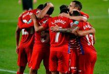 Gol de Luis Javier Suárez en el triunfo del Granada español