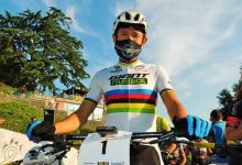 Paez y su alegría de ganar el nacional de maratón MTB