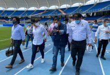 Viceministra visitó estadio de Cali