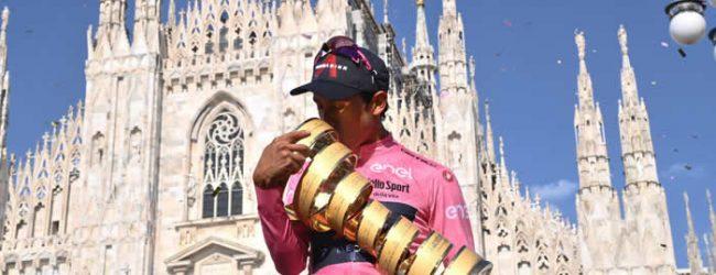 """Bernal: """"es mi primer Giro y fue muy especial"""""""
