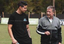 James visitó entrenamiento del Medellín